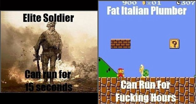 Call of Duty vs Super Mario