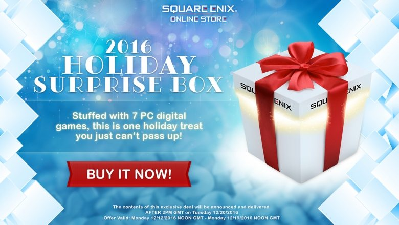 Square Enix Surprise Box Holiday 2016
