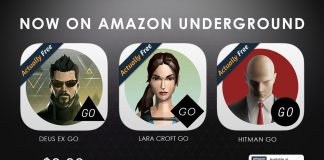 Lara Croft GO, Hitman GO and Deus EX GO are now free on Amazon Underground