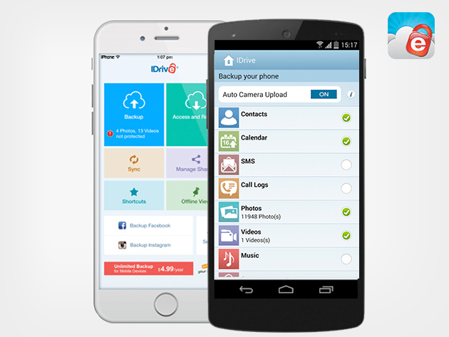 A Lifetime Of Unlimited Mobile Backup From IDrive