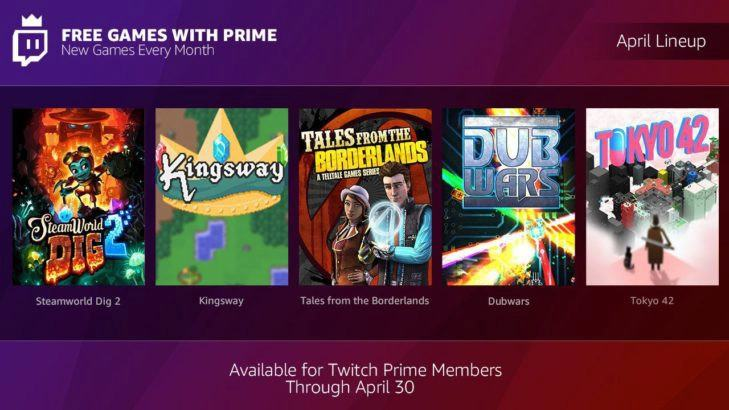 April Twitch Prime Free Games