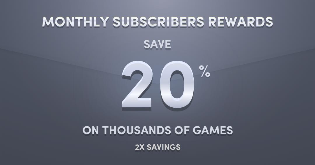 20% off everything at Humble Stores for Monthly Subscribers
