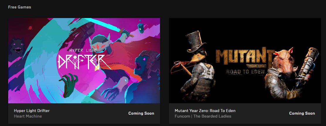 Free Games on Epic Games Store: Hyper Light Drifter and Mutant Year Zero: Road to Eden