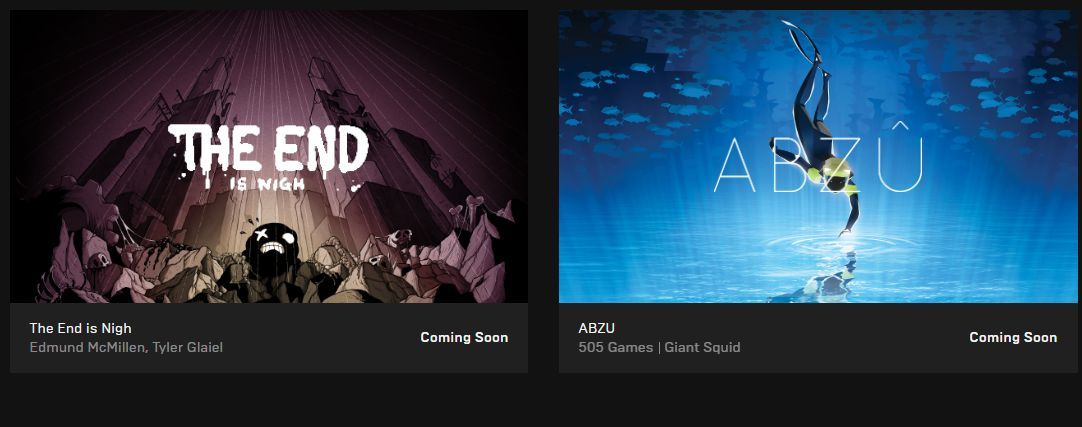 Free Games on Epic Games Store: The End Is Nigh and ABZU