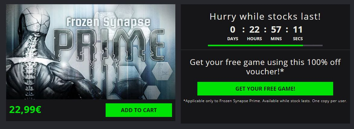 Get a Free Steam key: Frozen Synapse Prime