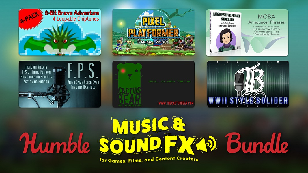 Humble Music and Sound Effects for Games, Films, and Content Creators Bundle