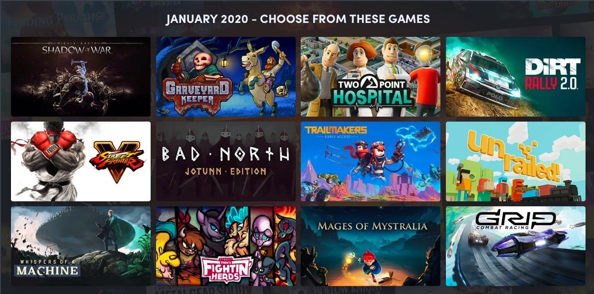 Humble Choice January 2020
