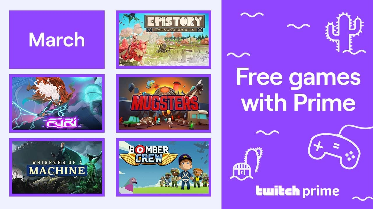 Free games with Twitch Prime for March 2020