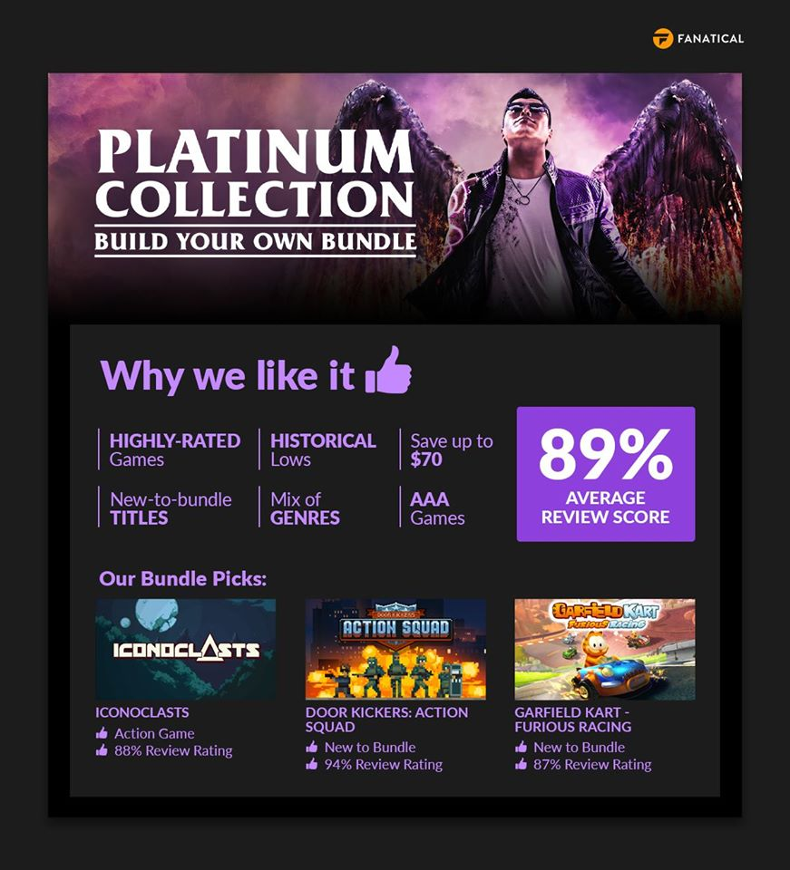 Fanatical Platinum Collection – Build Your Own Bundle July 2020