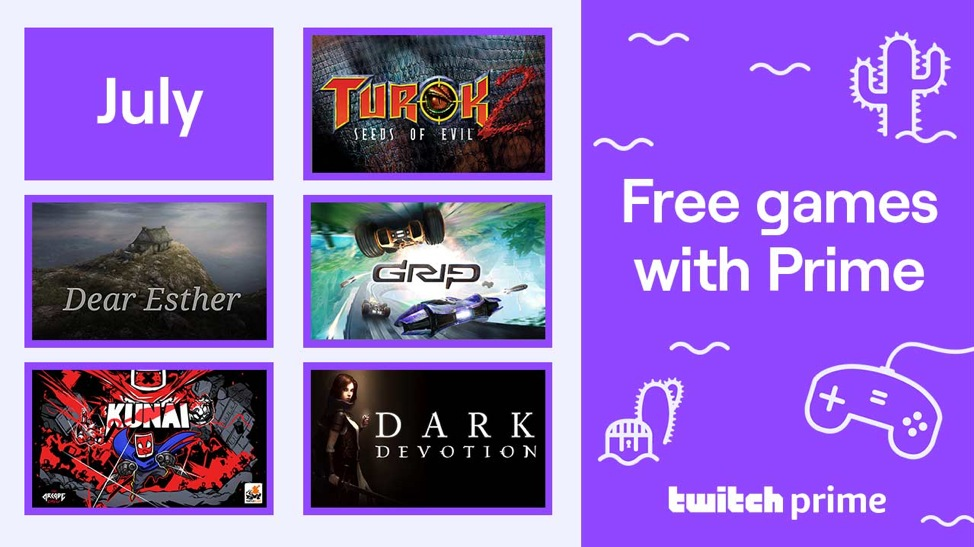 Free games with Twitch Prime for July 2020