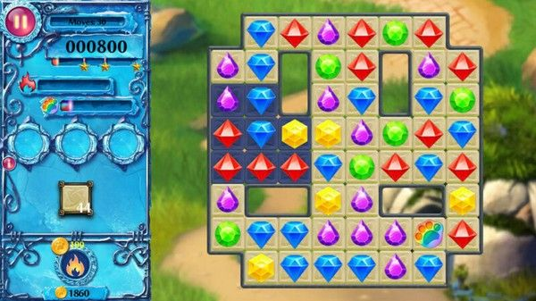 Screencap from Snow Jewels, one of 9 games in this bundle