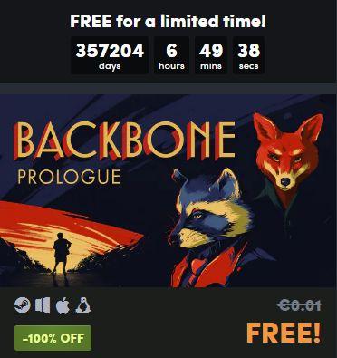 Get a FREE Backbone: Prologue Steam Key at Humble Bundle 2