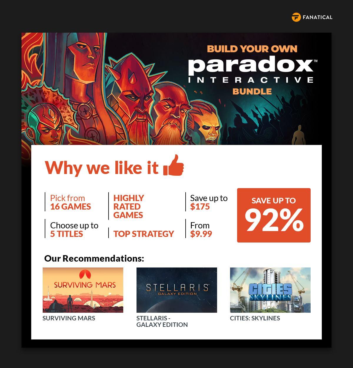 Fanatical Build Your Own Paradox Interactive Bundle