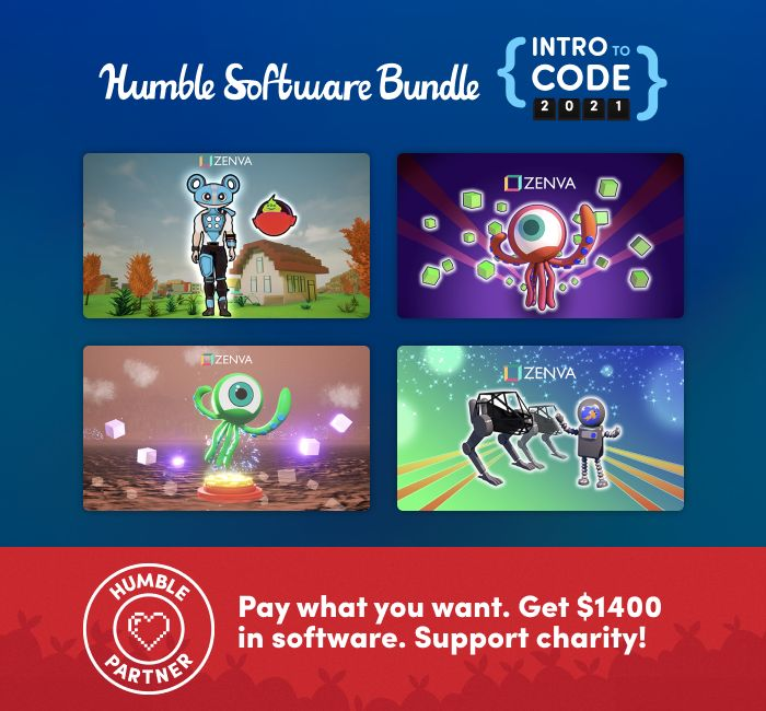 The Humble Intro to Code 2021 Software Bundle
