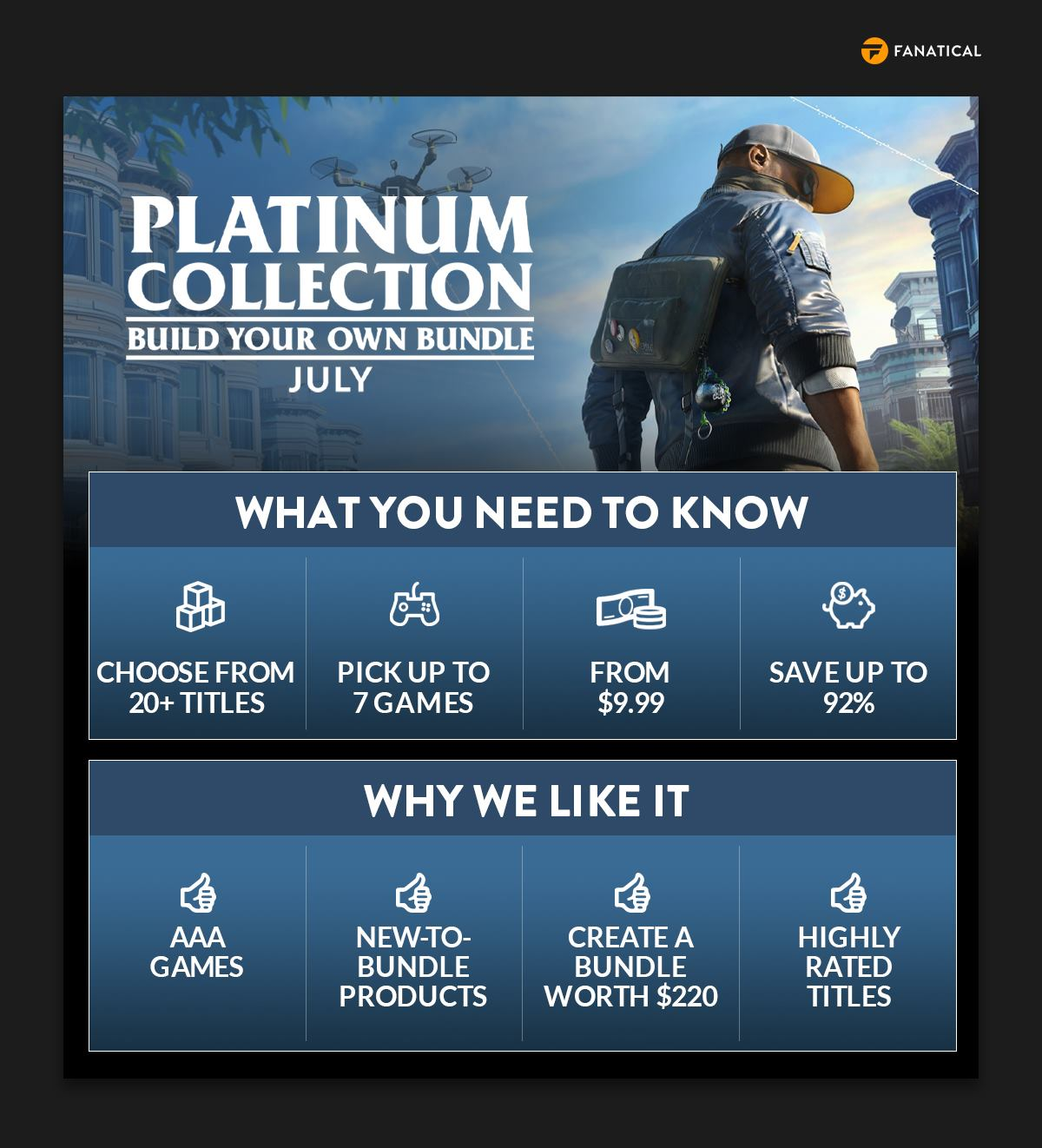 Fanatical Platinum Collection – Build Your Own Bundle July 2021