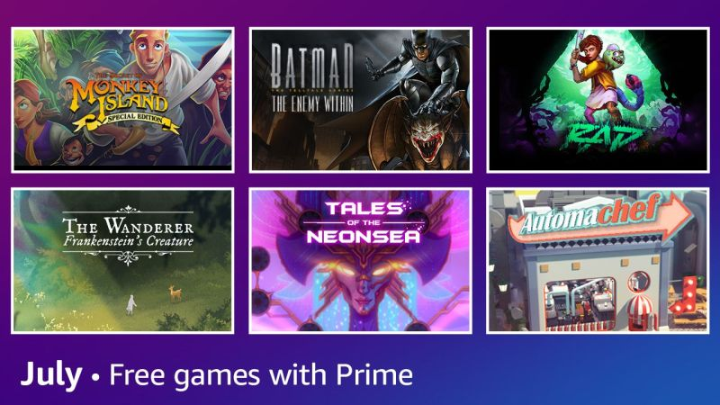 Free games with Amazon Prime Gaming for July 2021