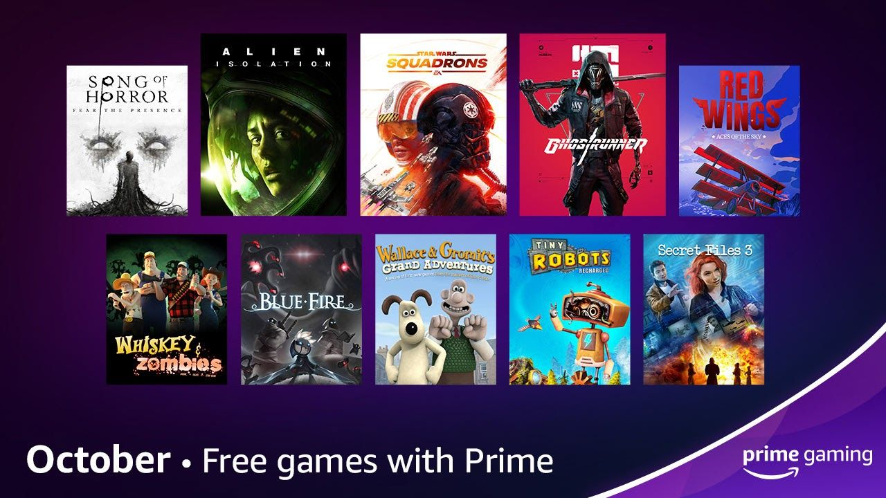 Free games with Amazon Prime Gaming for October 2021